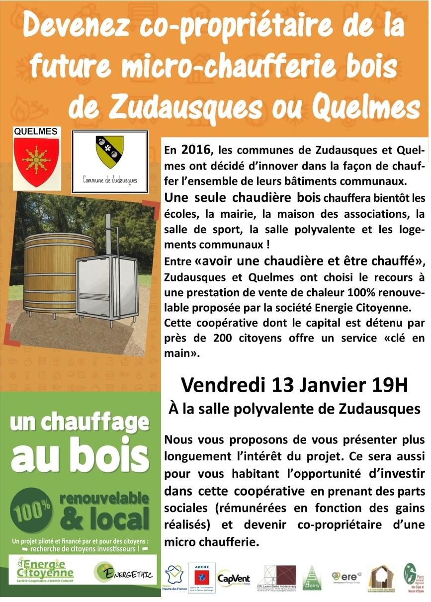 Réunion d'information «micro-chaufferie collective au bois»