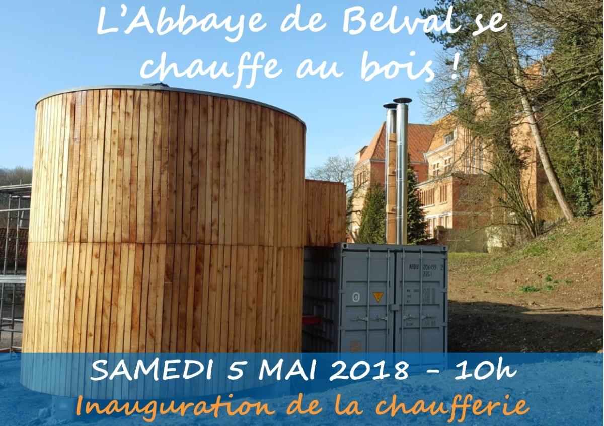 Inauguration de la chaufferie bois de l'Abbaye de Belval