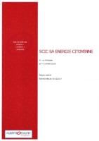 Scic SA Energie Citoyenne Rapport spécial signé